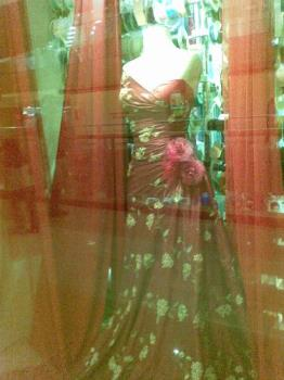 gown - beautiful gown in a display window in a mall