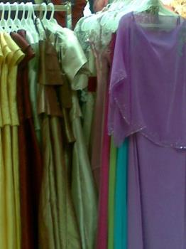 gowns - gowns in a department store