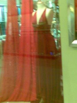 gowns - a gown on display in a department store