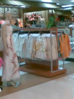 gowns - beautifully-embroidered gown and other nice pieces on display in a mall