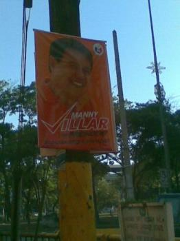 campaign poster - only one presidential candidate's poster was seen on the streets today