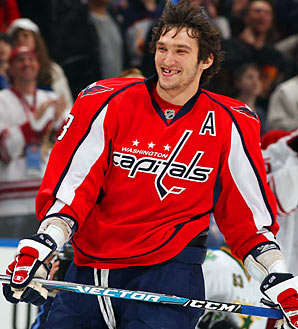 Alexander Ovechkin - A smiling Ovechkin (Ovie)