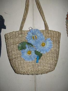 bag - native bag decorated with artificial flowers