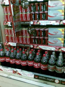 softdrinks - softdrinks on display in a store
