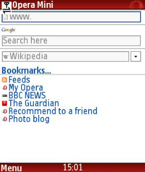 opera mini - opera mini screen shot