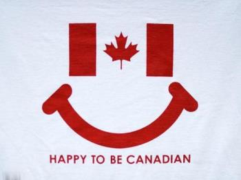 Happy to be Canadian - We're happy to be Canadian and dont you wonder why we smile so much? haha