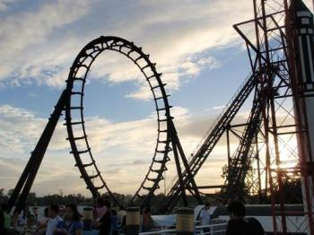 Roller Coaster - This roller coaster is located here in the Philippines. This is one of the best roller coasters here, it is called Space Shuttle! :)