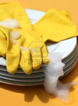 plates - wash dishes