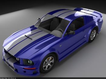 Mustang - A Blue Mustang