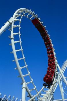 Roller Coaster.  - A picture of a Roller Coaster.