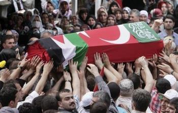 Turkish Palestine dead - Turkish Palestine mob the dead corpse.