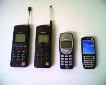 old handphones - Old are gold.They last longer.