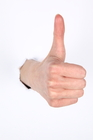 "Thumbs up! - This photo shows a ""Thumbs up"" implying ""Keep it up"" or ""All the best""."