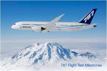 Boeing 787  - The Boeing 787, slated to arrive this year.