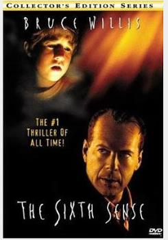 "The Movie ""The Sixth Sense"" - This is a poster/banner of the box office hit: The Sixth Sense, starring Bruce Willis"