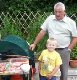 Harry and granddad - Barbecue time with 'the men' - Granddad and Harry