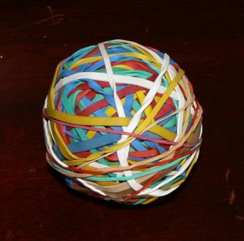 Rubber band ball - This is my nieces rubber band ball