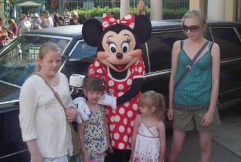 My four grandchildren - Here are the four sisters in Disneyland, you can see the difference in weight