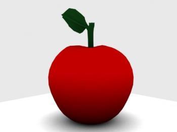 3D Apple - an apple made with Blender 3D