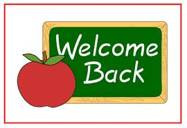Welcome Back - This is a Nice Welcome Back Sign you usually see this in a school since you see a chart board and an Apple so that makes it a school thing going on. lol. :) Nice welcome back Sign . :)