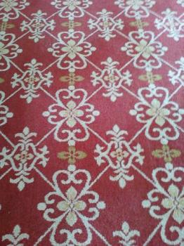 Carpet inside hotel - This is the carpet of Taal Vista hotel. It is nice to walk here but this is not inside the bedroom that is why I was not able to feel the texture of this carpet.