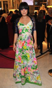 Lily Allen - I think this dress looks absolutely horrible. What do you think?