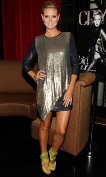 Heidi Klum - Horrible dress! What is she thinking?