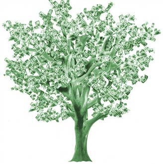 tree made of money^^ - a tree with money ahah would be good if existed right?^^ ahah
