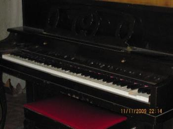 My piano - I haven't played her for more than a decade now so she needs a lot of tuning and restoration.