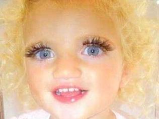 "Princess Tiamii - Jordan and peter andre's offspring, ""Princess Tiamii"". Her mother has stuck false eyelashes on her and makeup. This is no way to treat your toddler!"