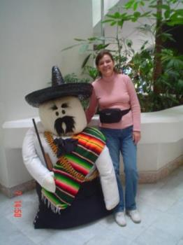 Lovely couple - I had my friends take this picture of me at a mall when I visited Mexico. It was in September and the festivities for the Independence were everywhere.