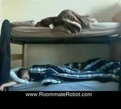 annoying roomis - sleeping there.