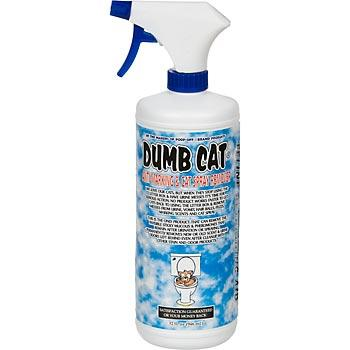 Dumb Cat Spray - It works very well for us and we have 12 cats!