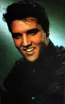 Elvis - A smiling Elvis in black