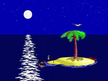 Screen saver : Johnny Castaway - A cult screen saver made by Sierra in 1993 : Johnny Castaway.