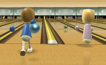 Wii Bowling - Bowling on the Wii entertainment system.