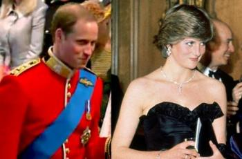 Prince William and Diana - Prince William and Diana have the same smile.