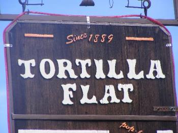 Tortilla Flats Sign - Hubby took me to Tortilla Flats for lunch last Saturday. We love going up and taking pictures of the lake and then having a meal at the quaint little restaurant.