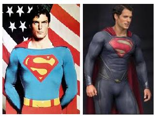 The Superman's New Look - The new Superman has changed his dress by keep away his underwear..:)