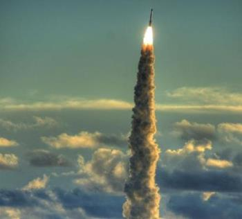 rocket - rocket - gases go hot and very fast on one direction, the rocket accelerating on opposite direction
