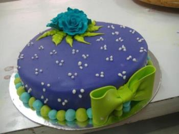 Beautifully colored cake - Sweet and lively cake