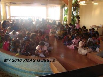 2010 Xmas guests - Each year I have a party for kids