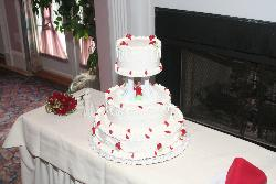 My wedding cake, how exciting!  LOL