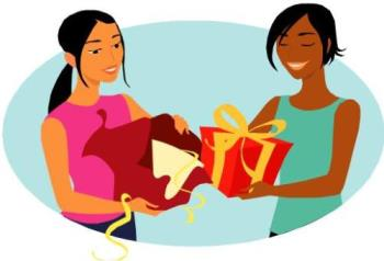 giving gift - giving gift is a session that i really like in my life. it is exciting we can give something that will make our mate happy. giving gift to men is easier than give a gift to womens. womens are too difficult to understand, they have so much want and always change time by time you know. so it will make us doubt for giving something like they expected.it will make us confused.