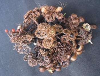 Hair broach - this is a human hair broach