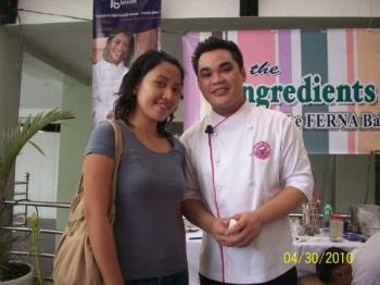 With Chef Ronald - This was taken from a cake demo in which chef Ronald was the demonstrator.