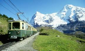 Swiss Alps - Travel to the Alps is easy through LRT.