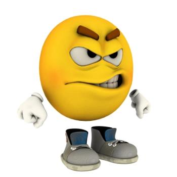 Anger !! - This emotiguy depicts anger with something that has gone terribly wrong. 