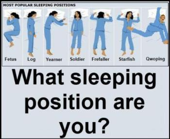 Most Sleeping Position. - Here is some most sleeping position.