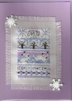 Cross Stitch Card - here is a look at the card type I make.